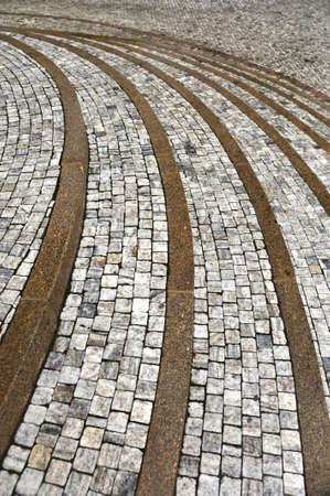 Old curved stone steps - cobblestones - granite - outdoor Stock Photo - 8411886