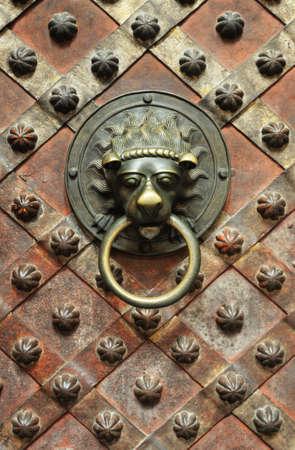 Wenceslas's Chapel - detail of old door Stock Photo - 8411884