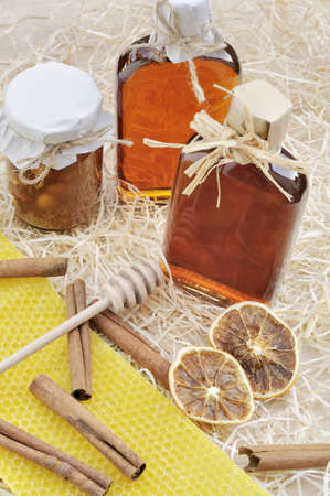 Natural products made of honey - still life photo