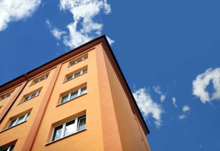 apartment: Block of flats - apartment building Stock Photo