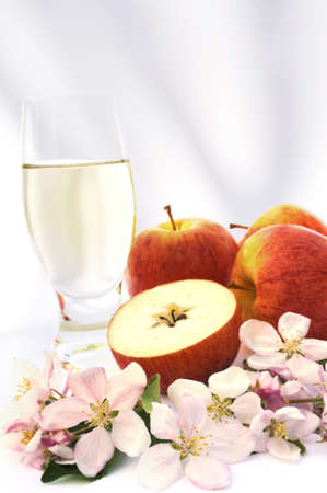 Cider and apple - still-life Stock Photo - 8669629