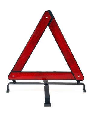 Warning triangle over white background photo