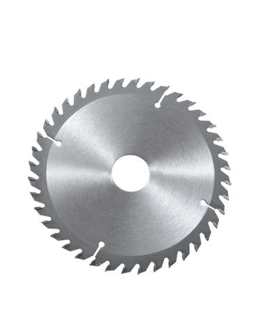 Circular saw blade for wood isolated on white Stok Fotoğraf
