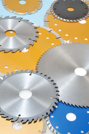Collection of circular saw blades  photo
