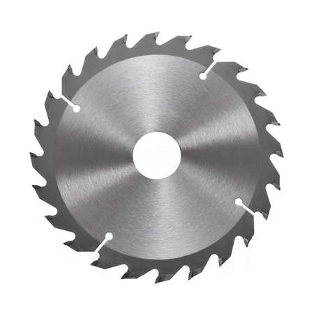 Circular saw blade for wood isolated on white Stock Photo - 9111304