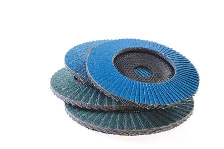 Abrasive disks for grinder isolated on white Stock fotó