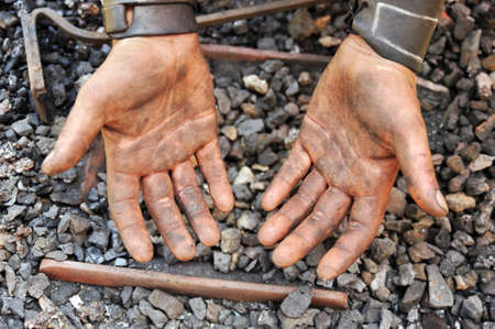 Detail of dirty hands - blacksmith Stock Photo - 9923477