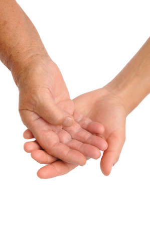 Hands of young and senior women - helping hand concept Stock Photo - 10682375