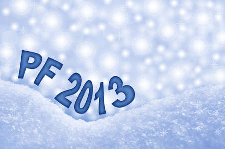 New Year 2013, PF greeting card Stock Photo - 15804418
