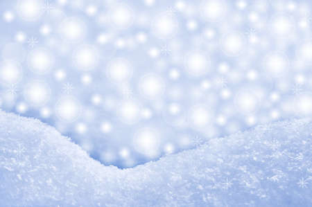 Detail of snowdrift and sparkling background photo