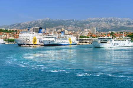 View of the port, Split town, Croatia Stock Photo - 16224289
