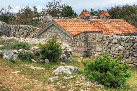 Stone house, Rudine, Krk island, Croatia Stock Photo - 16224291