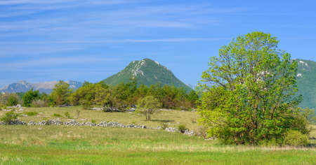 Mountain in Lika - Trovrh  The view near Ondic, Croatia photo