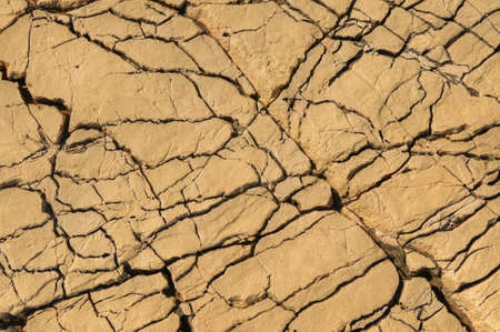 rifts: Detail of limestone surface, Vrboska, north of Croatia Stock Photo
