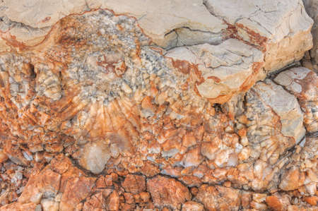 rifts: Detail of dolomite, calcite stone surface, Vrboska, north of Croatia