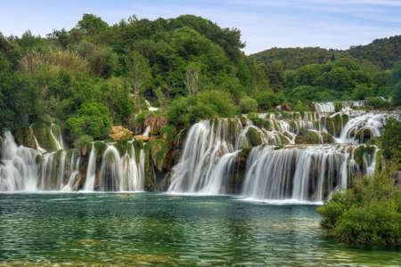 strumień: Krka wodospady rzeki w Parku Narodowym Krka, Roski Slap, Chorwacja
