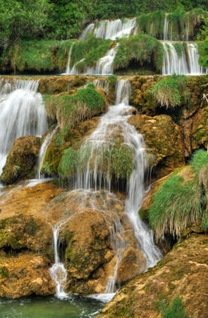 Krka river waterfalls in the Krka National Park, Roski Slap, Croatia photo