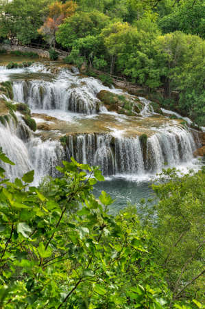 Krka river waterfalls in the Krka National Park, Roski Slap, Croatia Stock Photo - 16388864