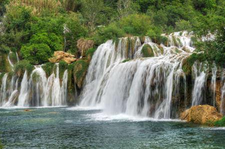 Krka river waterfalls in the Krka National Park, Roski Slap, Croatia photo