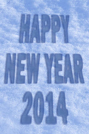 Happy New Year 2014 greeting card photo