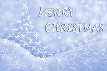 Merry Christmas greeting card photo