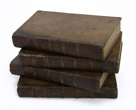 A Stack of Four Antique 18th Century Travel Books Stock Photo - 6847496