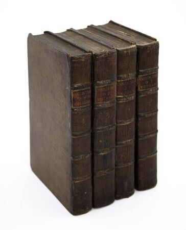 Four Antique 18th Century Books Stock Photo - 6847497