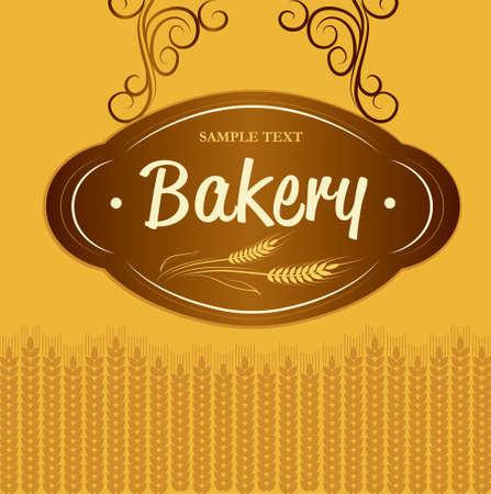 Boulangerie pain, baguette, pâtisseries, croissants, petit gâteau, étiquettes de bagel, pack épi de blé de pain de blé