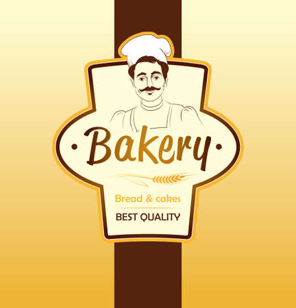 baked  goods: Bakery  loaf, baguette, baked goods, croissant, cupcake, bagel  labels, pack for bread wheat ear of wheat Illustration