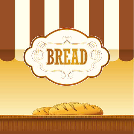 baguette: Bread  loaf, baguette, baked goods, croissant, cupcake, bagel  labels, pack for bread wheat ear of wheat
