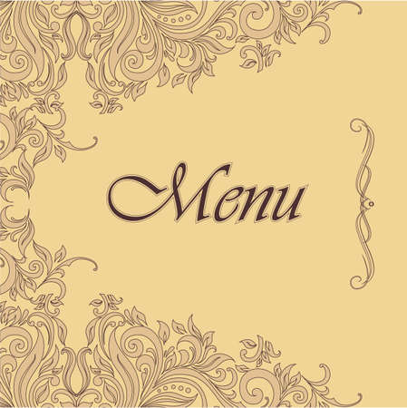 Menu in the old-style Stock Vector - 23973739