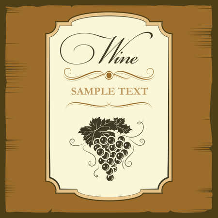 bottle label: Vintage label  Bunch of grapes for labels of wine