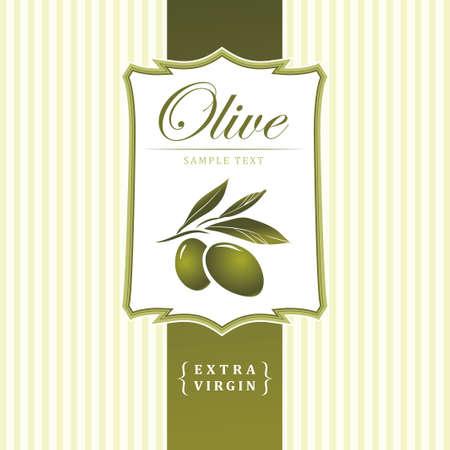 olive oil: Vector decorative olive branch