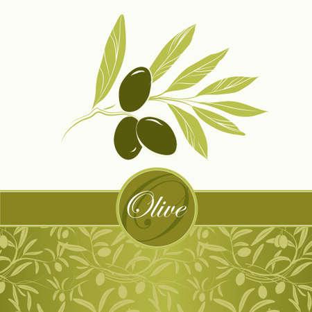 black berry: Vector decorative olive branch  Pattern olive branch