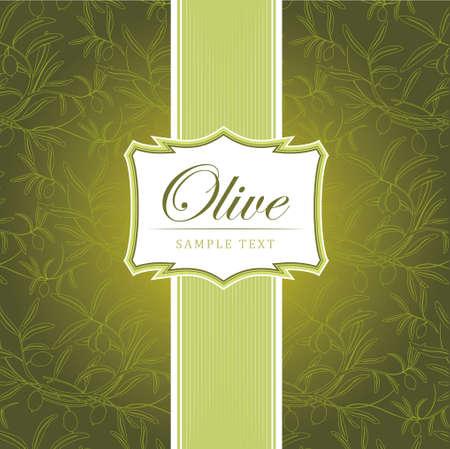 olive green: Olive background  For labels, pack