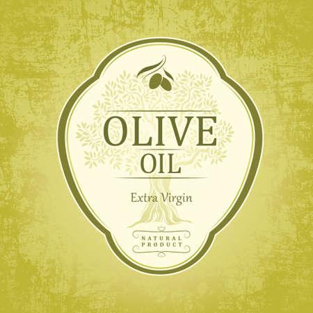 olivo arbol: El aceite de oliva Para las etiquetas, envase Vectores