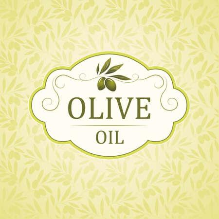 tree crown: Vector olive oil  Decorative olive branch  For label, pack   Illustration