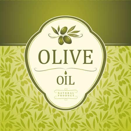 Vector olijfolie decoratieve olijftak Voor etiket, verpakking Stock Illustratie
