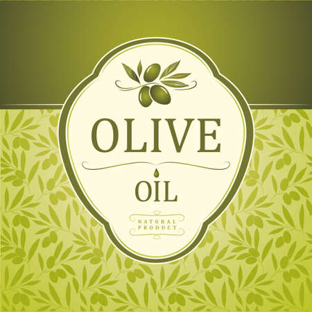 Vector olive oil  Decorative olive branch  For label, pack   Vector