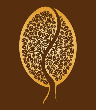 planta de frijol: Árbol de café Grano Vectores