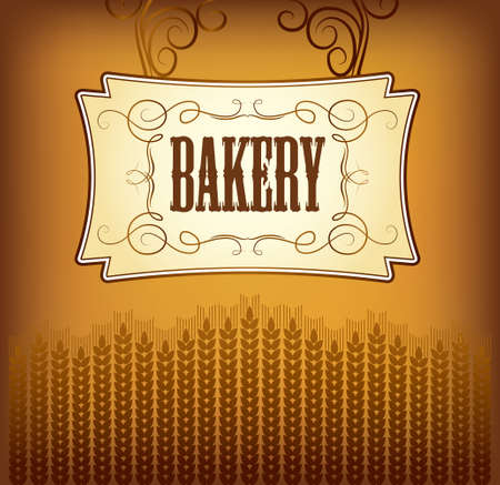 bagel: Brood bakkerij brood, stokbrood, gebak, croissants, cupcake, bagel labels, verpakking voor brood tarwe oor van tarwe