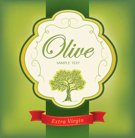 olive green: Olive tree   Olive oil  Vector  olive tree  For labels, pack