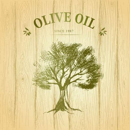 hout papier. Vector. groene olijven
