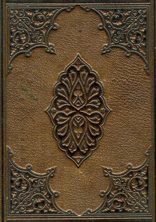 gefesselt: Alte Leder gebundene Bibel