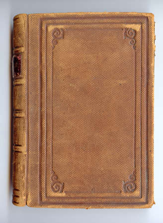 book binding: Antique leather book cover