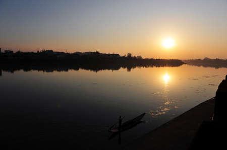 boatman: Boat on the river