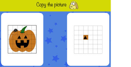Copy the picture. Children education game, iq test