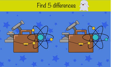 Find 5 differences. Children education game, iq test