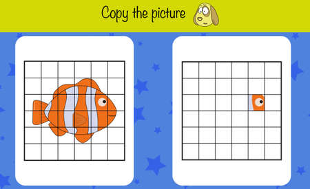 Copy the picture. Children education game, iq test, brain training