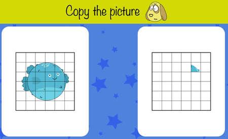 Copy the picture. Children education game, iq test, brain training